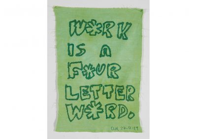 Work is a Four Letter Word